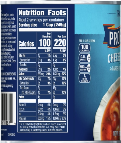 Progresso Traditional Cheese Tortellini in Garden Vegetable Tomato Soup Perspective: left