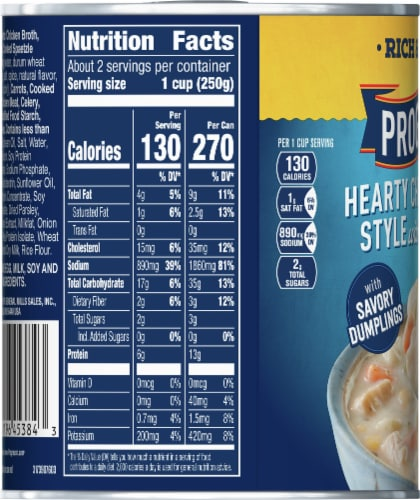 Progresso Rich & Hearty Chicken Pot Pie Style Soup Perspective: left