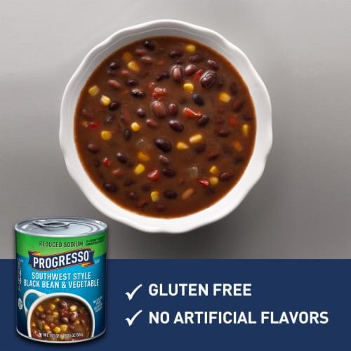 Progresso Reduced Sodium Southwest Style Black Bean & Vegetable Soup Perspective: left