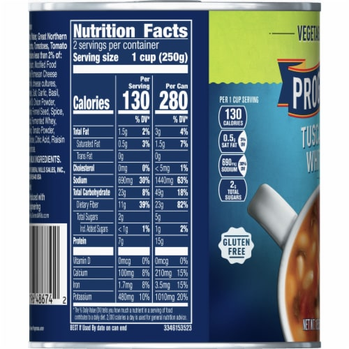 Progresso Vegetable Classics Tuscan-Style White Bean Soup Perspective: left