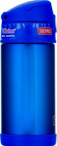 Thermos Stainless Steel Vacuum Insulated Straw Bottle - Blue Perspective: left