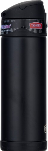 Thermos FUNtainer Stainless Steel Vacuum Insulated Hydration Bottle - Matte Black Perspective: left