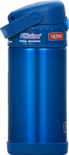 Thermos FUNtainer Stainless Steel Bottle - Navy Perspective: left