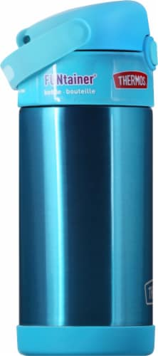 Thermos FUNtainer Stainless Steel Bottle - Teal Perspective: left