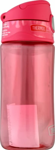 Thermos Plastic Spout Lid Hydration Bottle - Raspberry Perspective: left