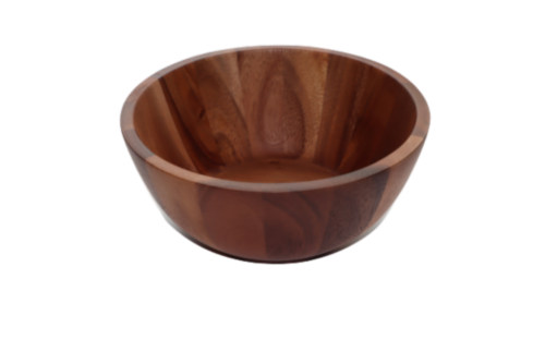 Dash of That Large Acacia Wood Serving Bowl Perspective: left