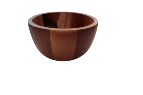 Dash of That Small Acacia Wood Serving Bowl Perspective: left