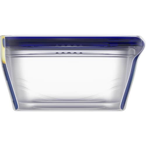 Kroger® Large Rectangle Reusable Containers with Lids - 2 pk - Clear/Blue 72 fl oz Perspective: left