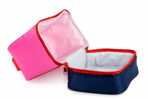 Everyday Living Colorblock Lunch Box - PInk Perspective: left
