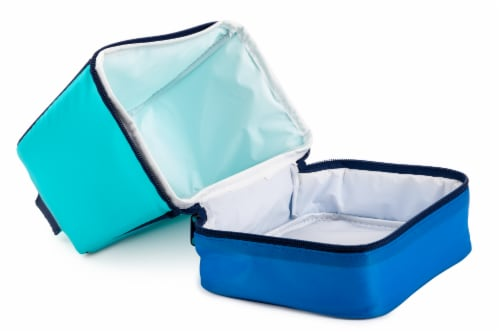 Everyday Living Colorblock Lunch Box - Blue Perspective: left