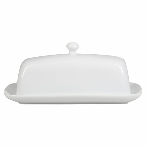 Dash of That™ Covered Butter Dish - White Perspective: left