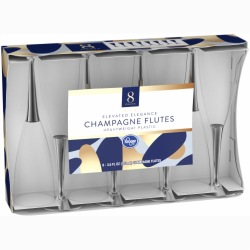 Kroger® Champagne Flutes - Clear Perspective: left
