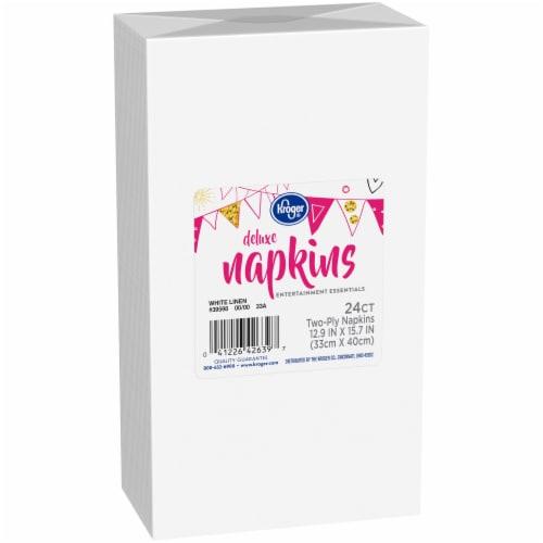 Kroger® Entertainment Essentials White Linen Deluxe Napkins Perspective: left