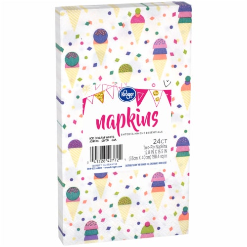 Kroger® Entertainment Essentials Ice Cream Guest Napkins - White Perspective: left