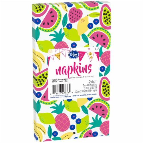 Kroger® Entertainment Essentials Tropical Brunch Guest Napkins - Green Perspective: left