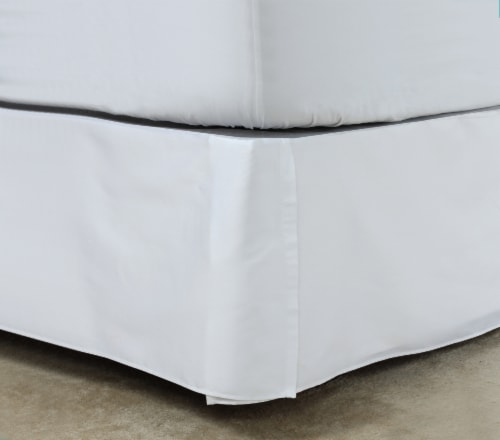 HD Designs® 210 Thread Count Sateen Bedskirt - White Perspective: left