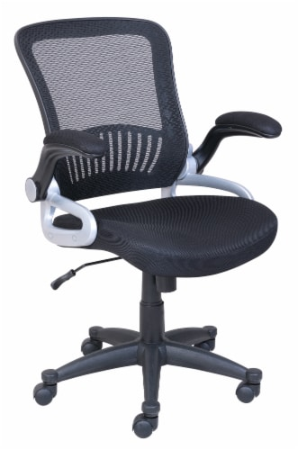 HD Designs Soho Mesh Manager Chair - Black/Silver Perspective: left