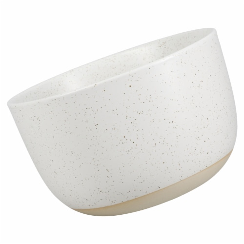 Dip™ Two Tone Dotted Cereal Bowl - White Perspective: left