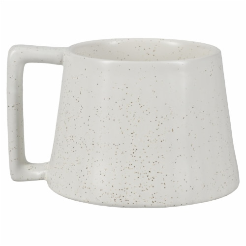 Dip Ceramic Dotted Mug - White Perspective: left