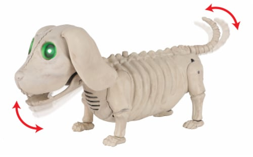 Holiday Home Animated Mini Dog Skeleton Perspective: left