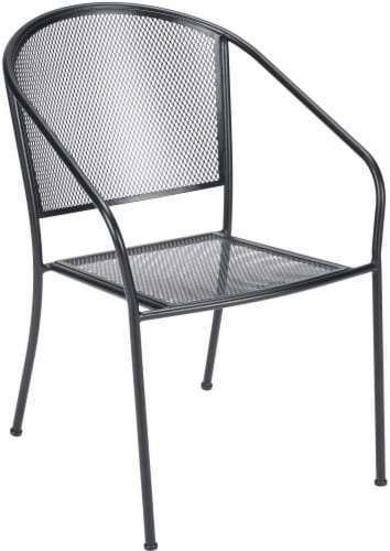 HD Designs Outdoors Taylor Mesh Stacking Chair - Black Perspective: left