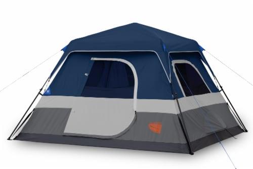 Glacier's Edge 6-Person Instant Cabin Tent - Navy/Gray Perspective: left
