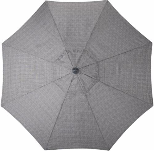 HD Designs Outdoors Ventura Fabric Umbrella - Gray Perspective: left