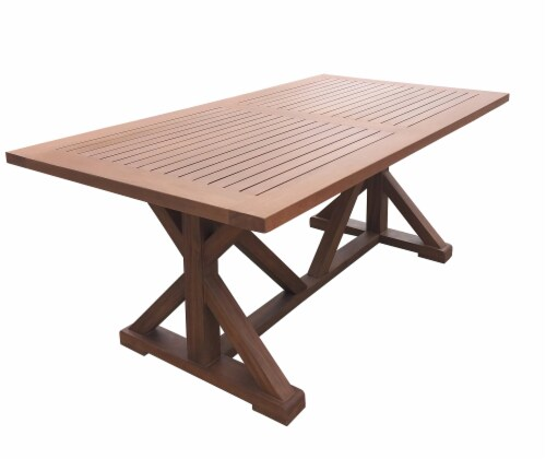 HD Designs Outdoors Pembrey Wood Table - Natural Wood Perspective: left