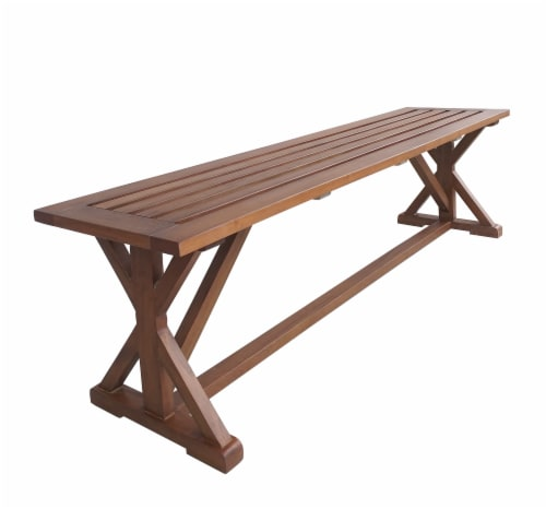 HD Designs Outdoors Pembrey Bench - Natural Wood Perspective: left