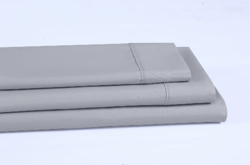 Everyday Living® 200 Thread Count Cotton/Polyester Pillow Case - Quiet Gray Perspective: left