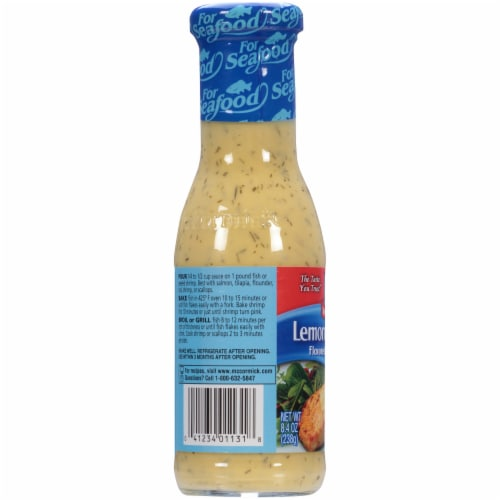 McCormick Lemon Butter Dill Flavored Seafood Sauce Perspective: left