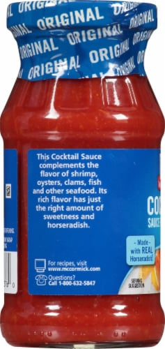 McCormick Seafood Cocktail Sauce Perspective: left