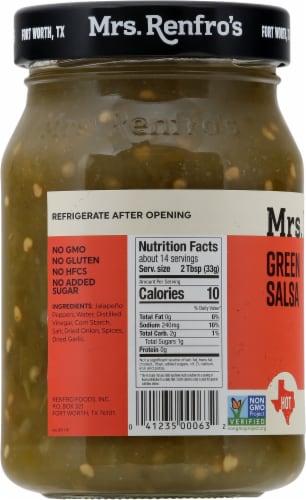 Mrs. Renfro's Hot Green Salsa Perspective: left