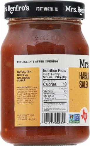 Mrs. Renfro's® Hot Habanero Salsa Perspective: left