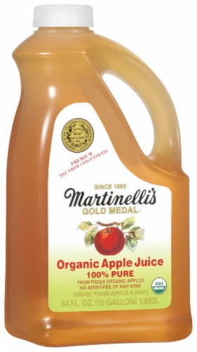 Martinelli's 100% Pure Organic Apple Juice Perspective: left