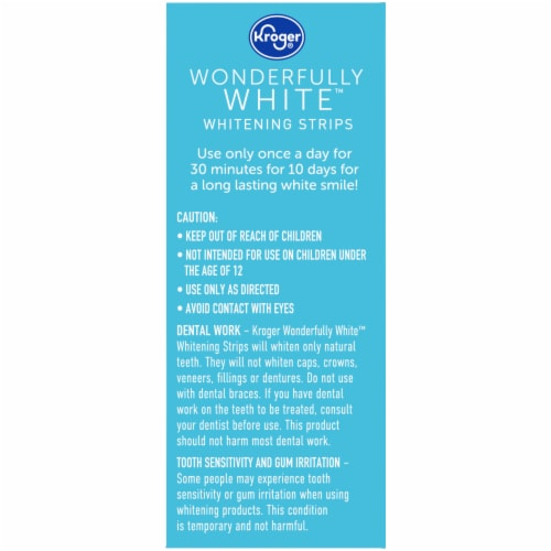 Kroger® Wonderfully White Whitening Strips Perspective: left