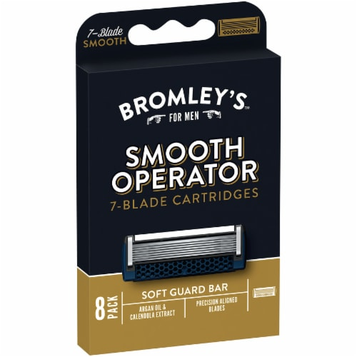 Bromley's™ For Men Smooth Operator 7-Blade Razor Cartridges Perspective: left