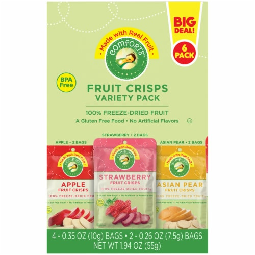 Comforts™ Fruit Crisps Variety Pack Perspective: left