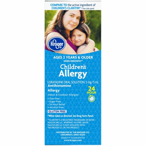 Kroger® Children's Allergy Non-Drowsy Grape Flavored Liquid Perspective: left