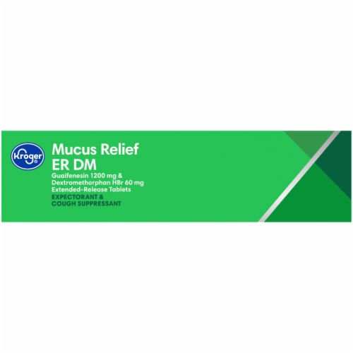 Kroger® Mucus Relief ER DM Expectorant & Cough Tablets Perspective: left