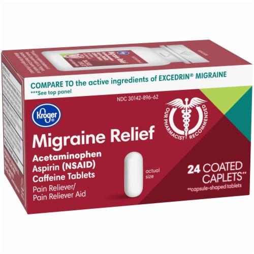 Kroger® Migraine Relief Coated Caplets Perspective: left