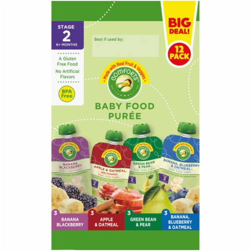Comforts Baby Food Puree Mixed Variety Pouch Perspective: left