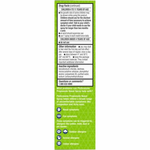 Kroger® 24 Hour Allergy Relief Nasal Spray Bottle Perspective: left
