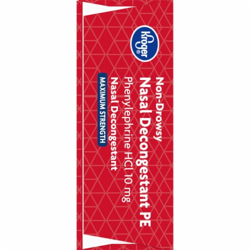 Kroger® Maximum Strength Non-Drowsy Nasal Decongestant PE Tablets 10mg Perspective: left