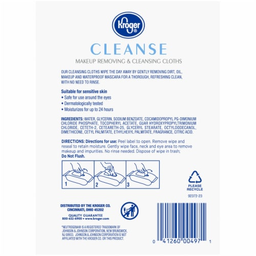 Kroger® Cleanse Makeup Removing & Cleansing Cloths Perspective: left