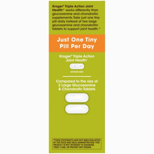 Kroger® Triple Action Joint Health Coated Tablets Perspective: left