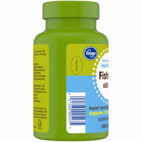 Kroger® Fish Oil Softgels 600mg Perspective: left