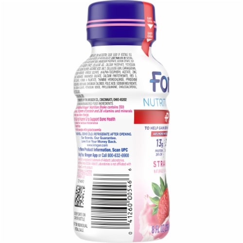 Kroger® Fortify Plus Strawberry Nutritional Shake Perspective: left