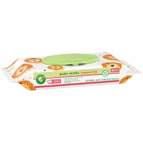 Comforts™ Fragrance-Free Baby Wipes Perspective: left