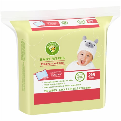 Comforts™ Fragrance-Free Baby Wipes 216 Count Perspective: left